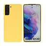 Fashion Color Backcover Hoesje Samsung Galaxy S21 Plus Geel