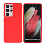 Fashion Color Backcover Hoesje Samsung Galaxy S21 Ultra Rood
