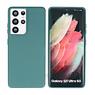 Samsung Galaxy S21 Ultra Hoesje Fashion Backcover Telefoonhoesje Donker Groen