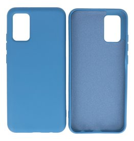 Fashion Color Backcover Hoesje Samsung Galaxy A02s Navy