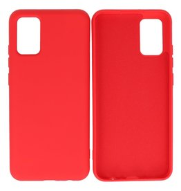 Fashion Color Backcover Hoesje Samsung Galaxy A02s Rood