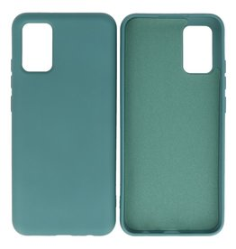 Fashion Color Backcover Hoesje Samsung Galaxy A02s Donker Groen