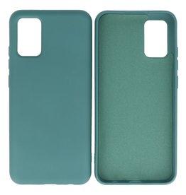 Samsung Galaxy A02s Hoesje Fashion Backcover Telefoonhoesje Donker Groen