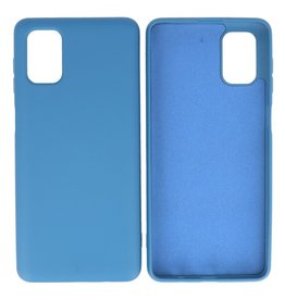 Fashion Color Backcover Hoesje Samsung Galaxy M51 Navy