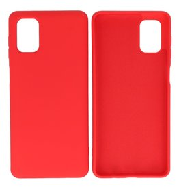 Fashion Color Backcover Hoesje Samsung Galaxy M51 Rood