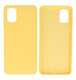 Fashion Color Backcover Hoesje Samsung Galaxy M51 Geel