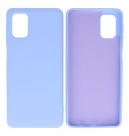 Fashion Color Backcover Hoesje Samsung Galaxy M51 Paars