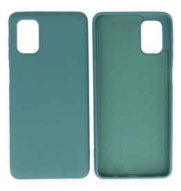 Fashion Color Backcover Hoesje Samsung Galaxy M51 Donker Groen