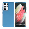 Fashion Color Backcover Hoesje Samsung Galaxy S21 Ultra Navy