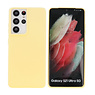 Fashion Color Backcover Hoesje Samsung Galaxy S21 Ultra Geel