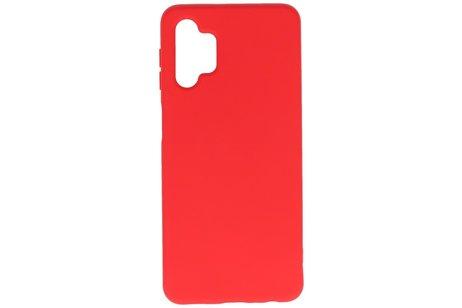 Fashion Telefoonhoesje - Backcover Hoesje - Achterkant Hoesje - Geschikt voor Samsung Galaxy A32 5G - Rood