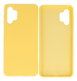 Fashion Color Backcover Hoesje Samsung Galaxy A32 5G Geel