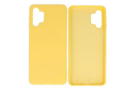 Fashion Telefoonhoesje - Backcover Hoesje - Achterkant Hoesje - Geschikt voor Samsung Galaxy A32 5G - Geel