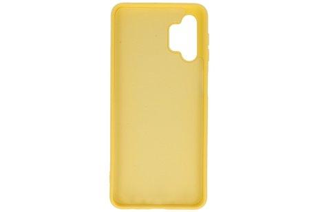 Samsung Galaxy A32 5G Hoesje Fashion Backcover Telefoonhoesje Geel
