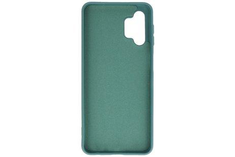 Fashion Telefoonhoesje - Backcover Hoesje - Achterkant Hoesje - Geschikt voor Samsung Galaxy A32 5G - Donker Groen