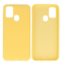 Fashion Color Backcover Hoesje Samsung Galaxy M21 / M21s Geel
