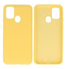 Samsung Galaxy M21 & Galaxy M21s Hoesje Fashion Backcover Telefoonhoesje Geel