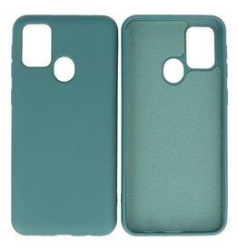 Samsung Galaxy M21 & Galaxy M21s Hoesje Fashion Backcover Telefoonhoesje Donker Groen