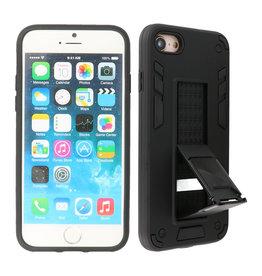 Stand Hardcase Backcover iPhone SE 2020 / 8 / 7 Zwart