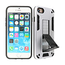 Stand Hardcase Backcover iPhone SE 2020 / 8 / 7 Zilver