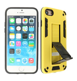 Stand Hardcase Backcover iPhone SE 2020 / 8 / 7 Geel