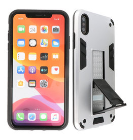 Stand Hardcase Backcover iPhone X / Xs Zilver