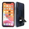 Stand Hardcase Backcover iPhone X / Xs Navy
