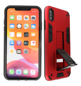 Stand Hardcase Backcover iPhone X / Xs Rood