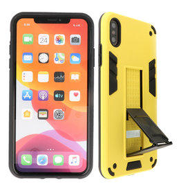 Stand Hardcase Backcover iPhone X / Xs Geel