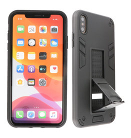 Stand Hardcase Backcover iPhone Xs Max Zwart