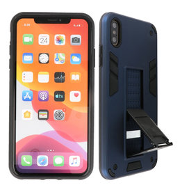 Stand Hardcase Backcover iPhone Xs Max Navy