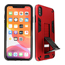 Stand Hardcase Backcover iPhone Xs Max Rood