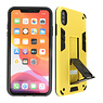 Stand Hardcase Backcover iPhone Xs Max Geel