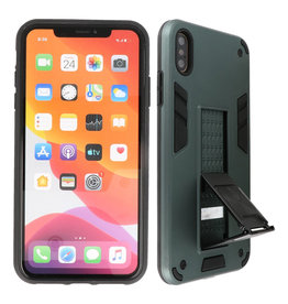 Stand Hardcase Backcover iPhone Xs Max Donker Groen