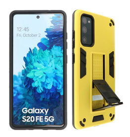 Stand Hardcase Backcover Samsung Galaxy S20 FE Geel