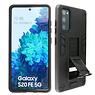 Stand Hardcase Backcover Samsung Galaxy S20 FE Zwart