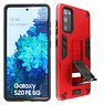 Stand Hardcase Backcover Samsung Galaxy S20 FE Rood