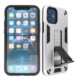 Stand Hardcase Backcover iPhone 12 Mini Zilver