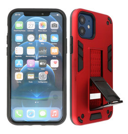 Stand Hardcase Backcover iPhone 12 Mini Rood