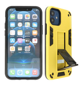 Stand Hardcase Backcover iPhone 12 Mini Geel
