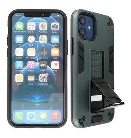 Stand Hardcase Backcover iPhone 12 Mini Donker Groen