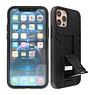 Stand Hardcase Backcover iPhone 12 - 12 Pro Zwart