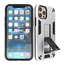 Stand Hardcase Backcover iPhone 12 - 12 Pro Zilver