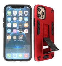 Stand Hardcase Backcover iPhone 12 - 12 Pro Rood