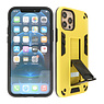 Stand Hardcase Backcover iPhone 12 - 12 Pro Geel