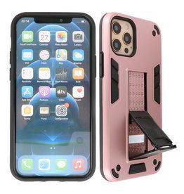 Stand Hardcase Backcover iPhone 12 - 12 Pro Roze