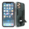 Stand Hardcase Backcover iPhone 12 - 12 Pro Donker Groen