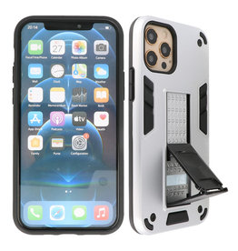 Stand Hardcase Backcover iPhone 12 Pro Max Zilver