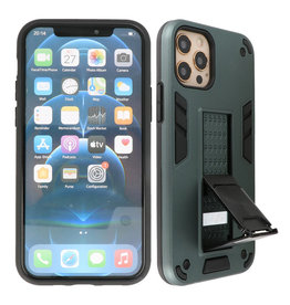 Stand Hardcase Backcover iPhone 12 Pro Max Donker Groen
