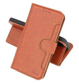 Luxe Portemonnee Hoesje Pasjeshouder Telefoonhoesje Samsung Galaxy A72 5G - Bruin